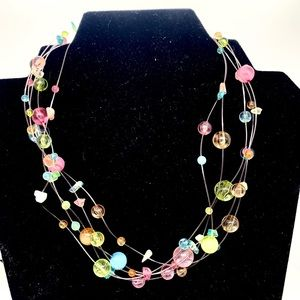 Pastel multi strand necklace You and I